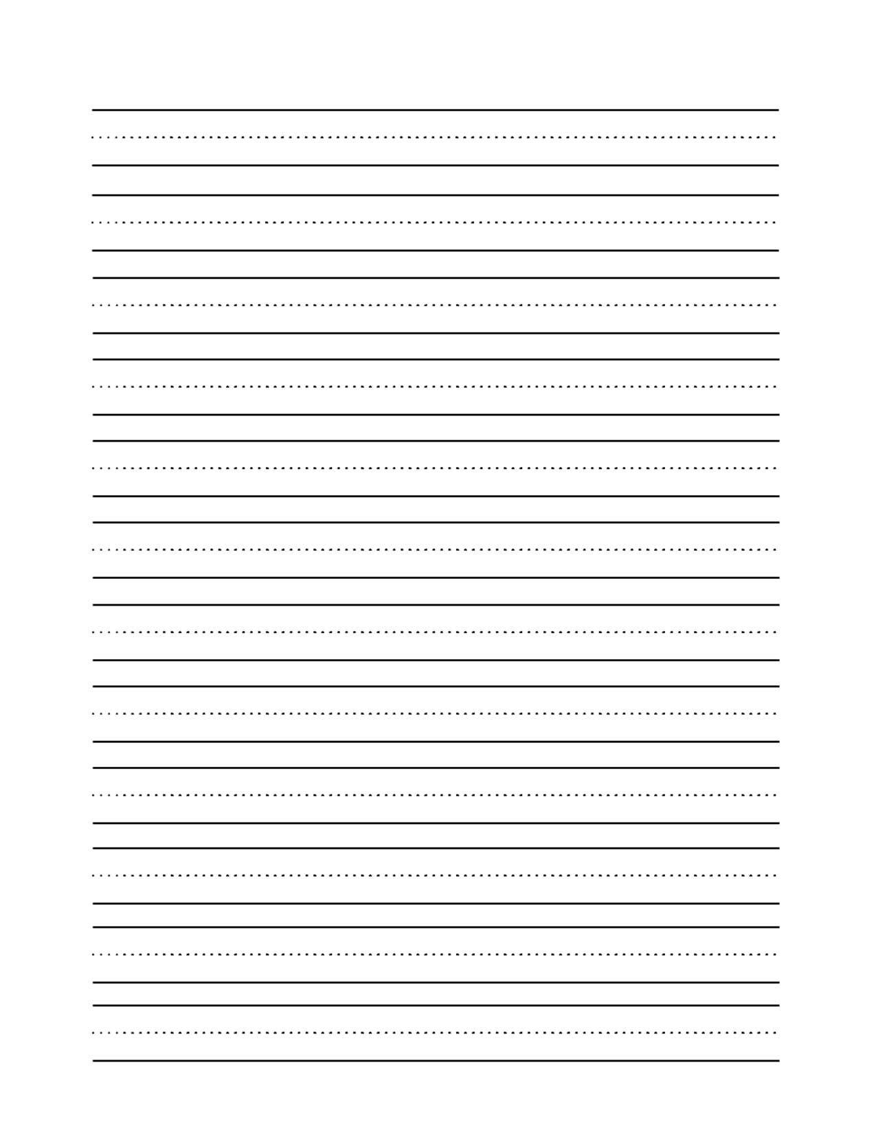 13 Best Images Of Printable Blank Handwriting Worksheets