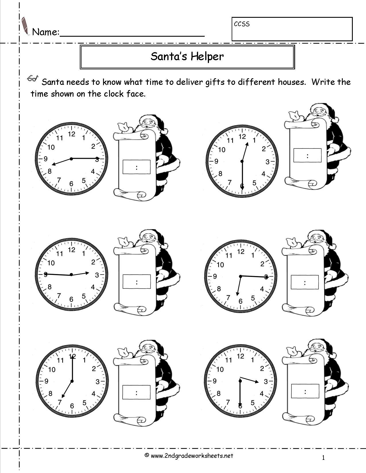 14 Best Images Of Time Worksheets Grade 2