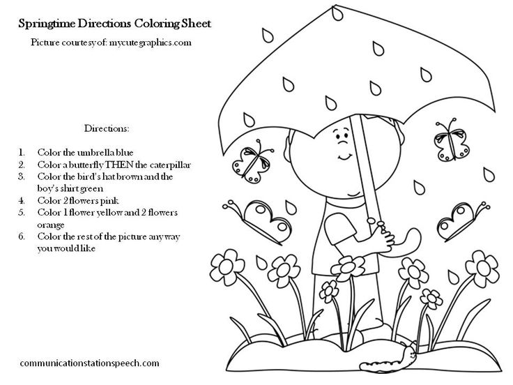 9 Best Images of Following Directions Coloring Worksheets
