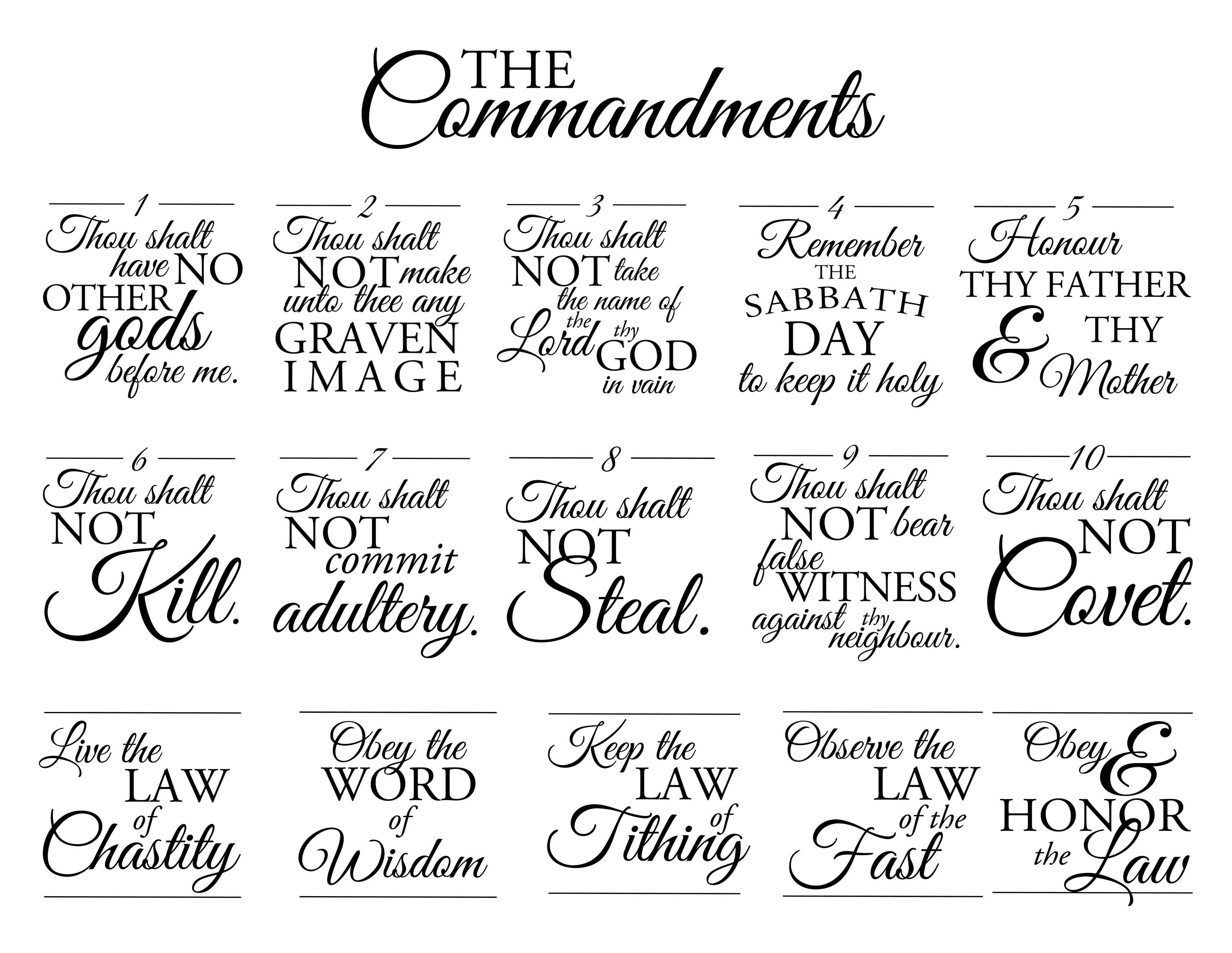 15 Best Images Of 10 Commandments Worksheet
