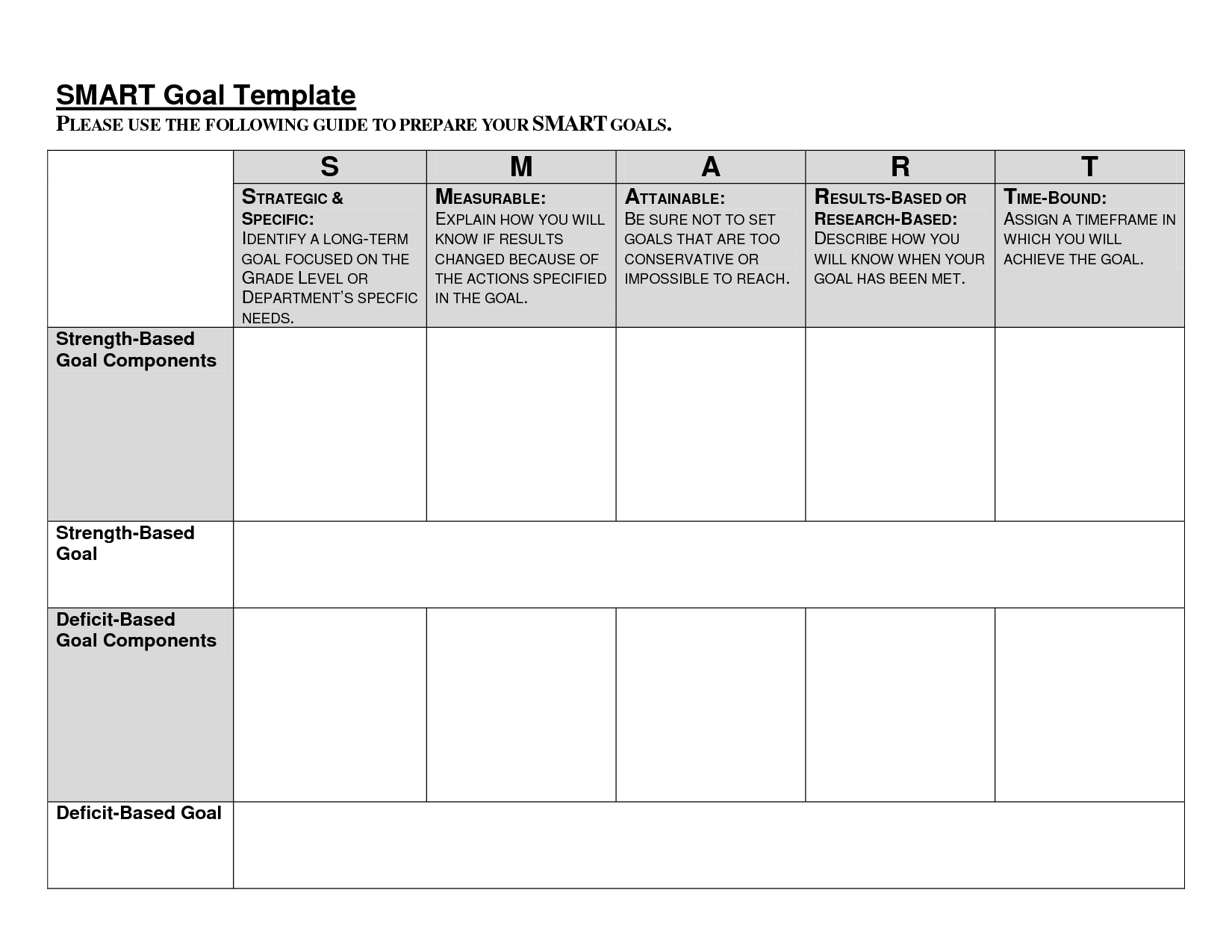 17 Best Images Of Sample Smart Goals Worksheet