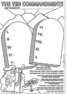 Ten Commandments Booklet Coloring Pages Sketch Coloring Page