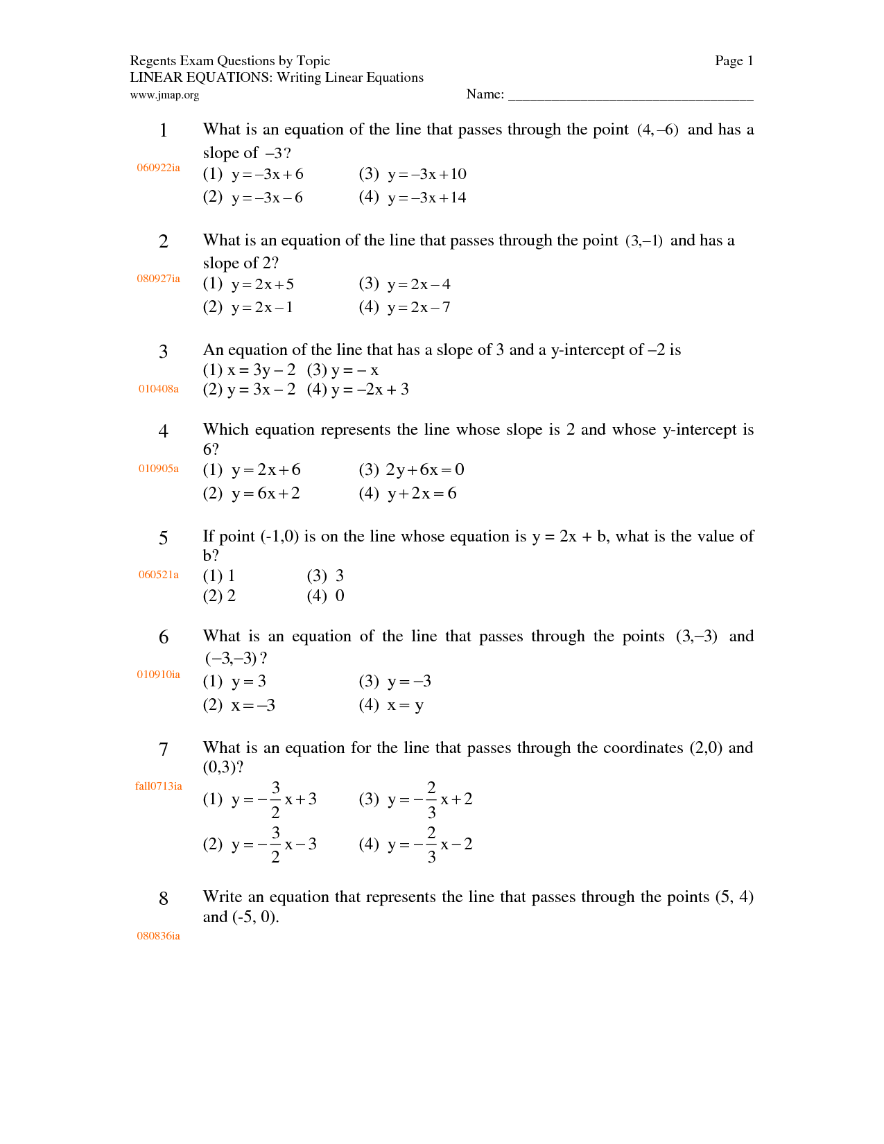 15 Best Images Of Simple Linear Equations Worksheets