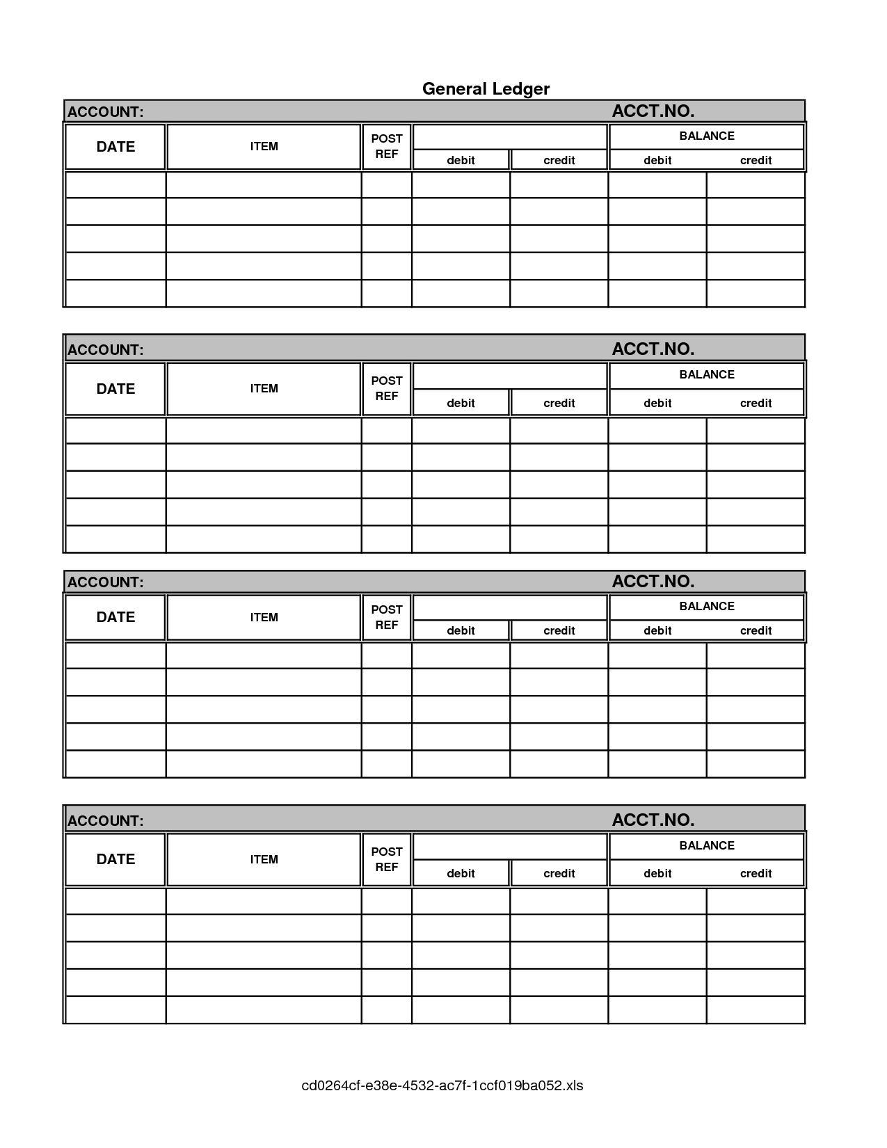 14 Best Images Of Ledger Free Printable Worksheets