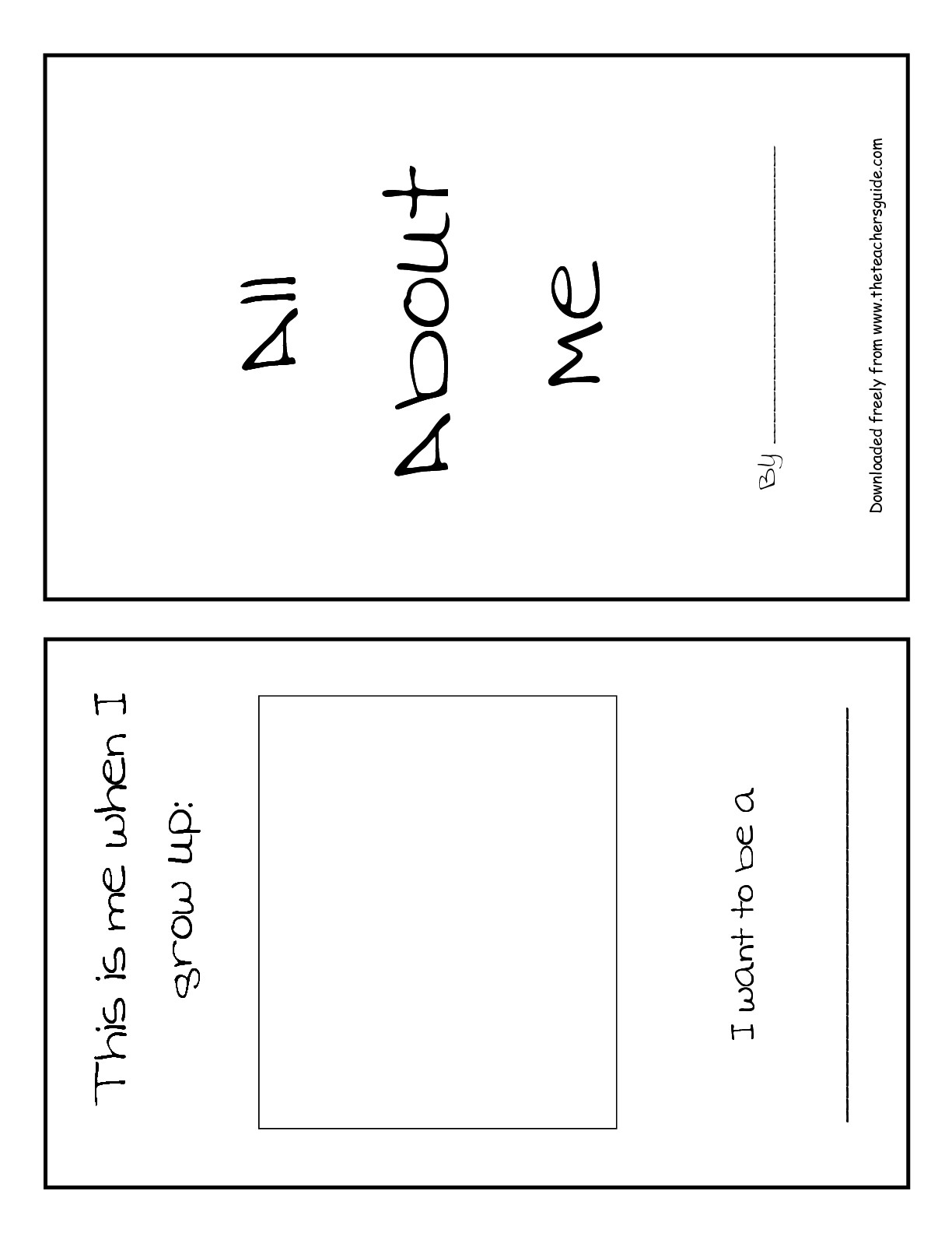 13 Best Images Of First Day All About Me Worksheet