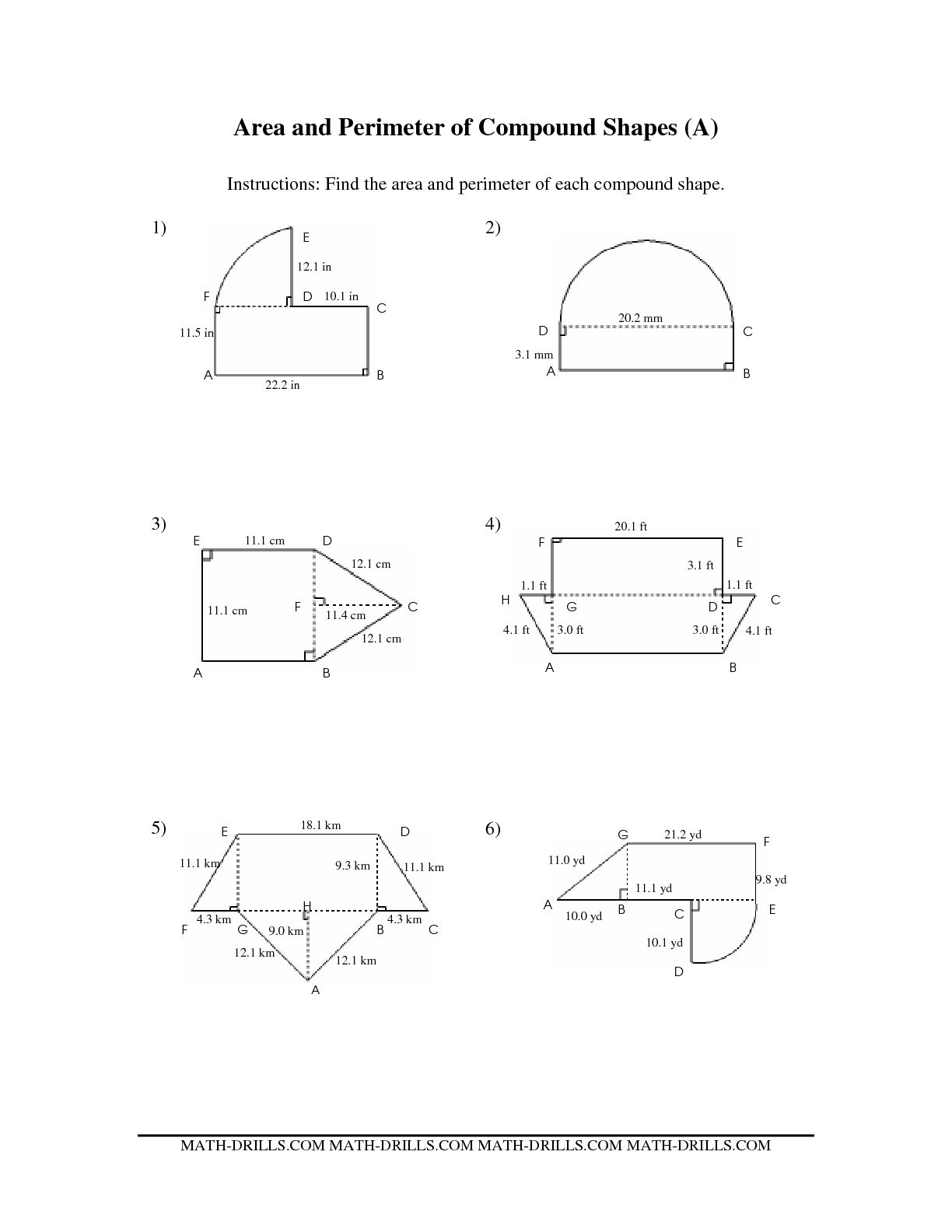 10 Best Images Of Area Perimeter Worksheets 6th Grade