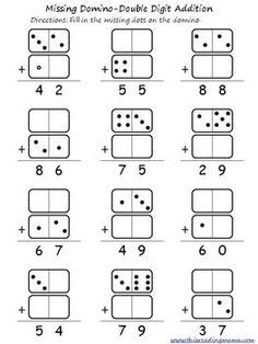 16 Best Images of Domino Addition And Subtraction