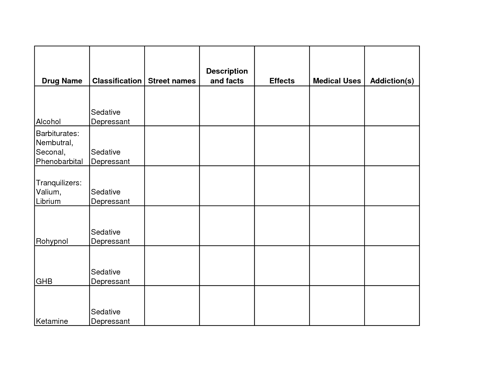 Therapy Worksheet On Addiction