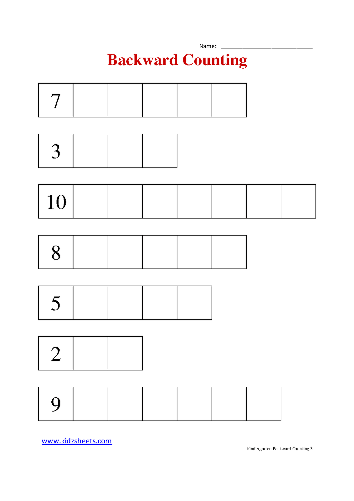 16 Best Images Of Counting Backwards Worksheets 1st Grade