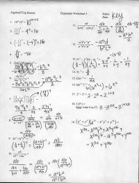 Simplifying Exponents Worksheet Algebra 2 - algebra 2 ...