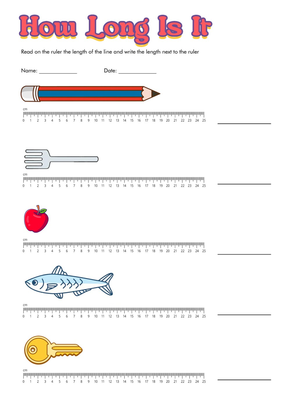 medium resolution of Measurement Worksheet With Ruler   Printable Worksheets and Activities for  Teachers