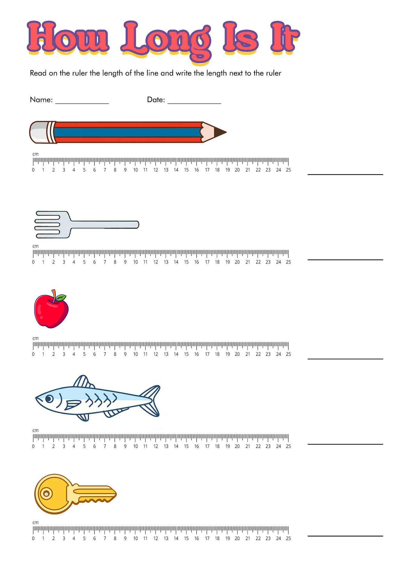 hight resolution of Measurement Worksheet With Ruler   Printable Worksheets and Activities for  Teachers