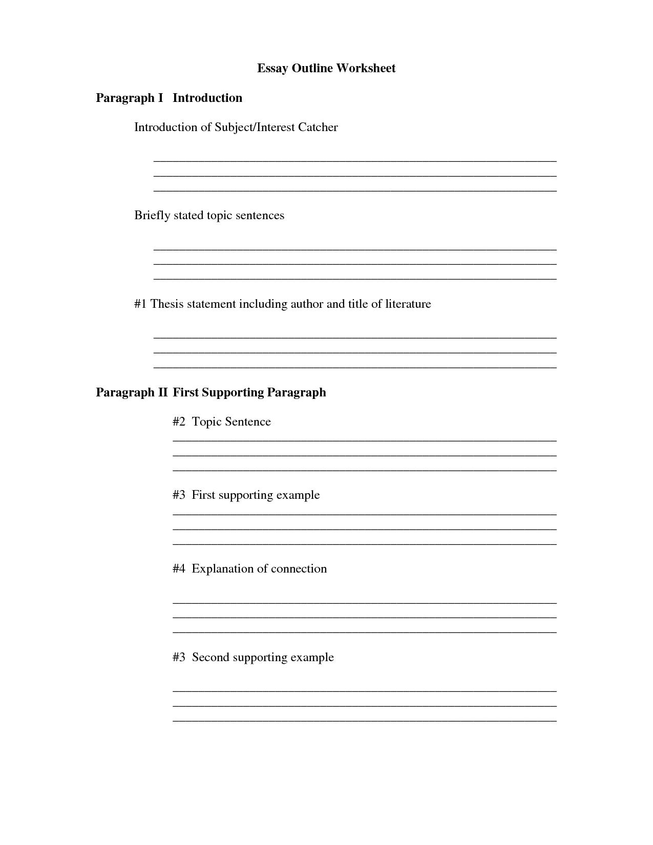 16 Best Images Of Argumentative Essay Outline Worksheet