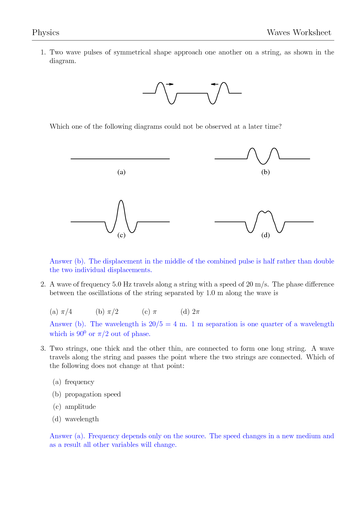 11 Best Images Of Wave Diagram Worksheet