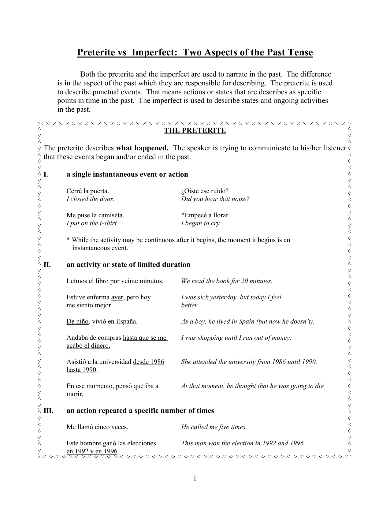 8 Best Images Of Preterite Practice Worksheet