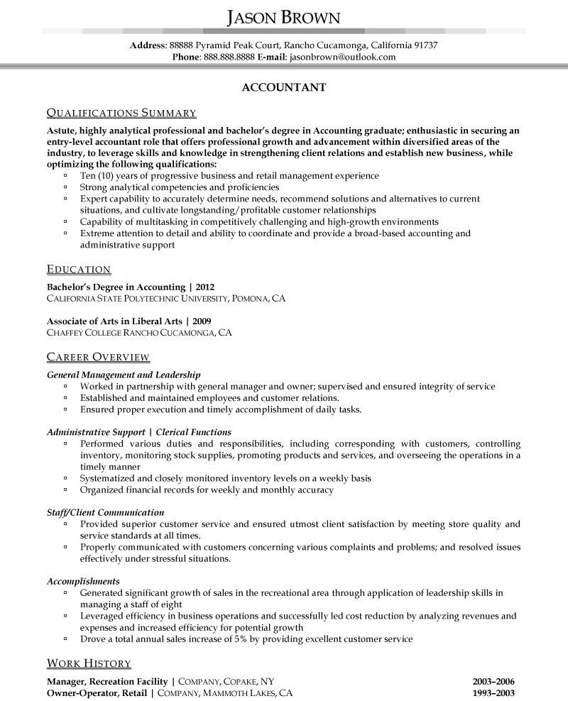 12 Best Images of Resume Worksheet Examples  Accounting Sample Accountant Resume Product