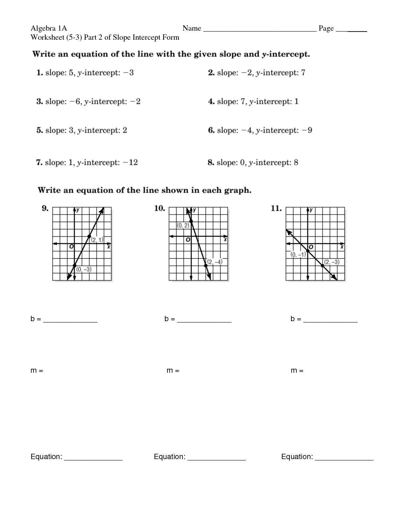16 Best Images Of Worksheet For Algebra 1a