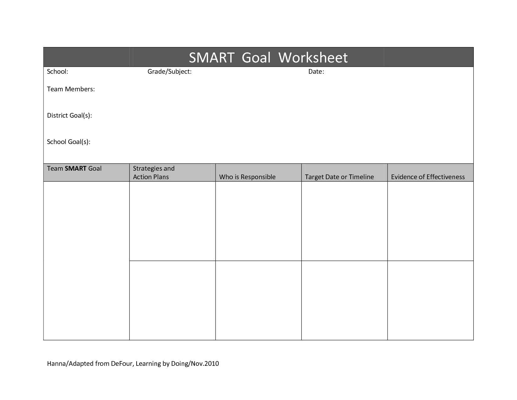17 Best Images Of Creating Goals Worksheet