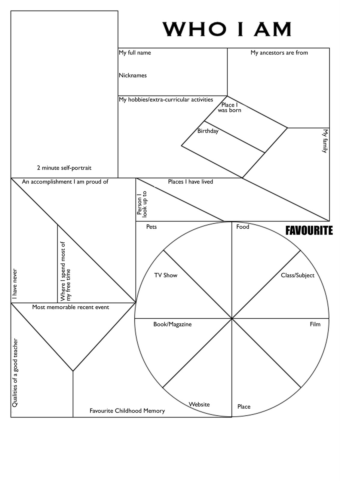 18 Best Images Of Who I Am Student Worksheet