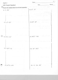 12 Best Images of Factoring Out Monomials Worksheets