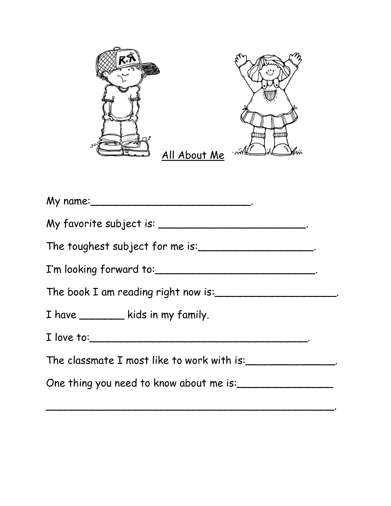 14 Best Images Of Esl Family Worksheet Kids