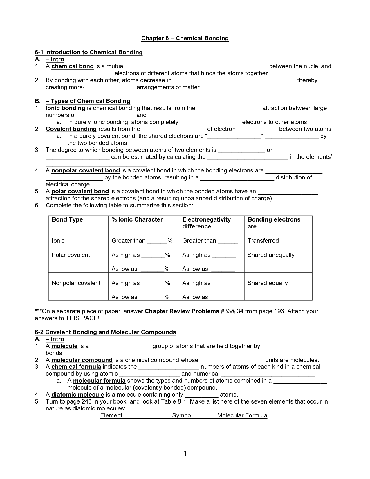 Amazing Ionic And Covalent Bonds Color Worksheet Answer