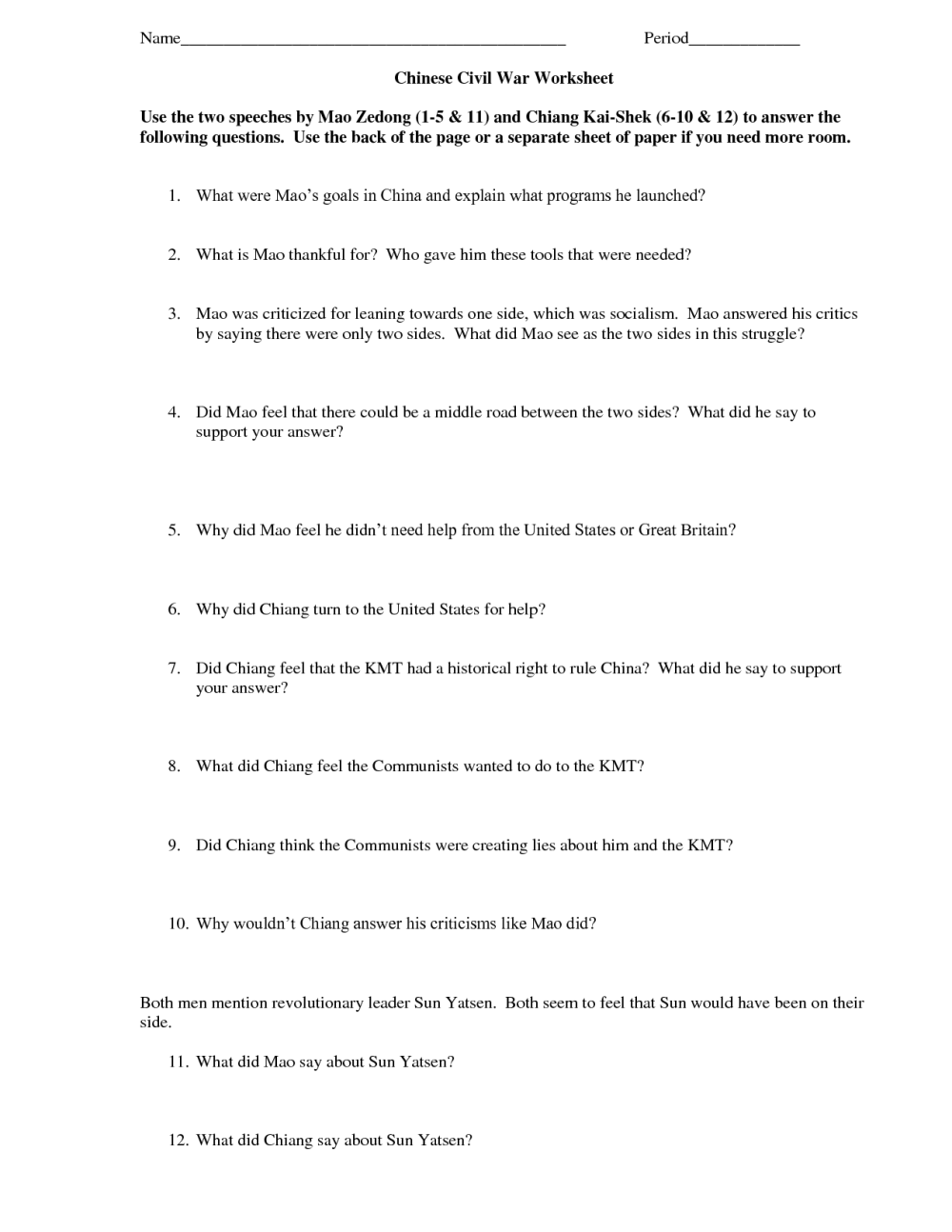 medium resolution of 8th Grade History Worksheets   Printable Worksheets and Activities for  Teachers