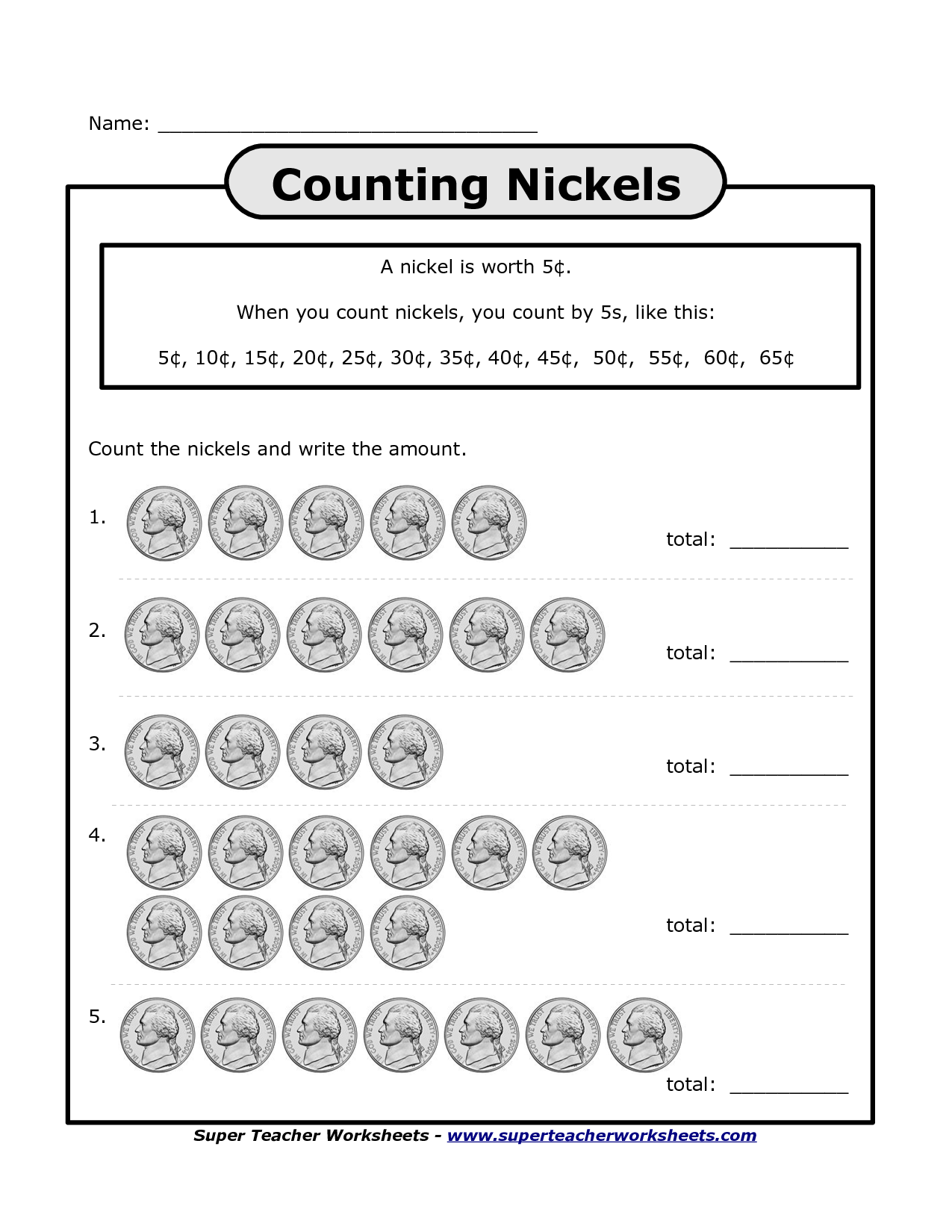 14 Best Images Of Dimes Nickels And Pennies Worksheets