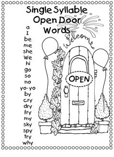 11 Best Images of First Grade Syllable Sort Worksheet