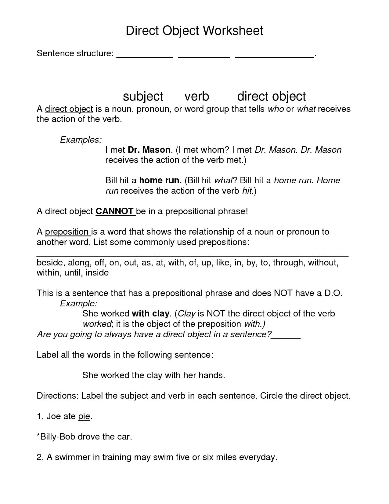 18 Best Images Of Objective Case Pronouns Worksheet