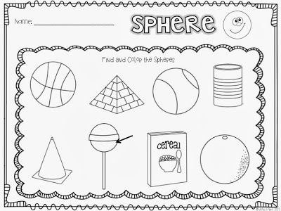 10 Best Images of Sphere Worksheets For Kindergarten