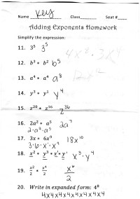 13 Best Images of 8th Grade Math Exponents Worksheets