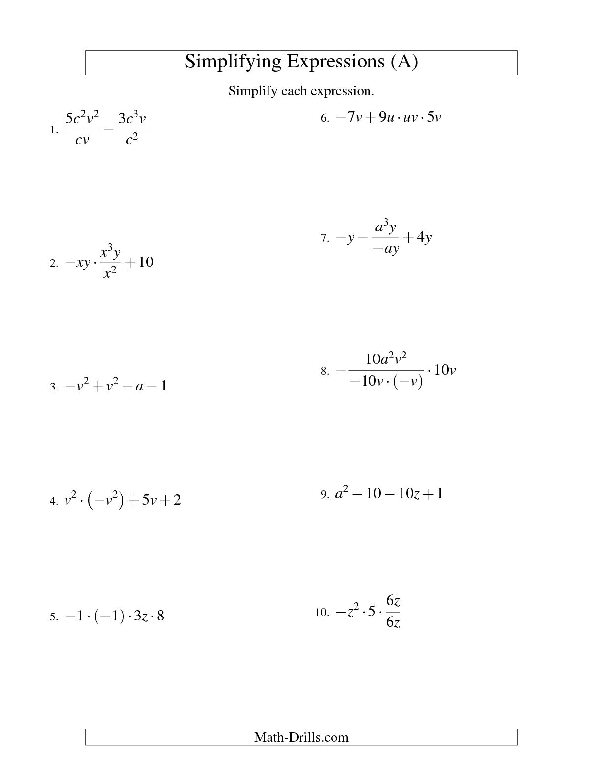13 Best Images Of 8th Grade Math Exponents Worksheets 6