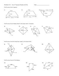 worksheet. Area Of Trapezoid Worksheet. Worksheet Fun ...