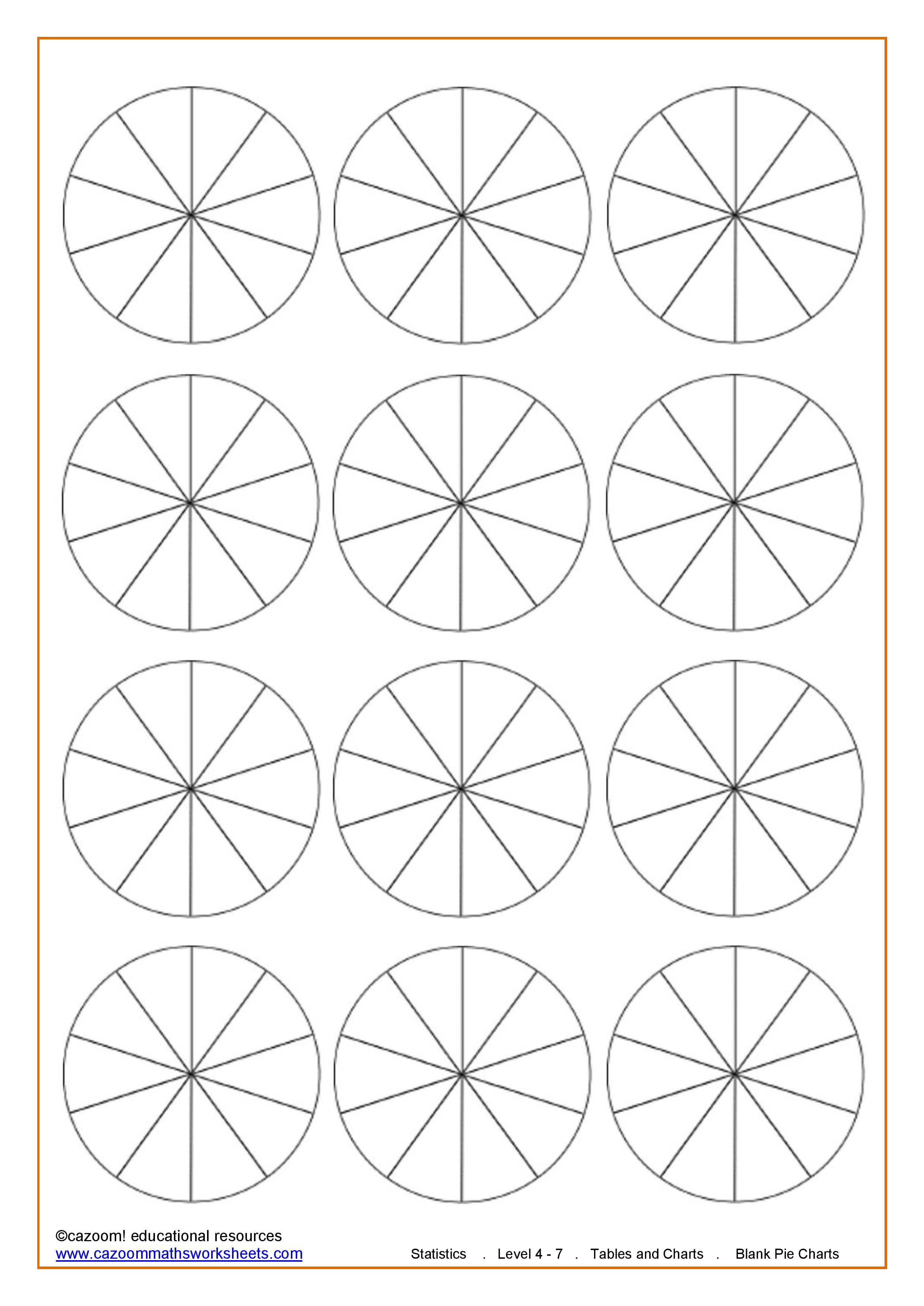 15 Best Images Of Blank Pie Graph Worksheets