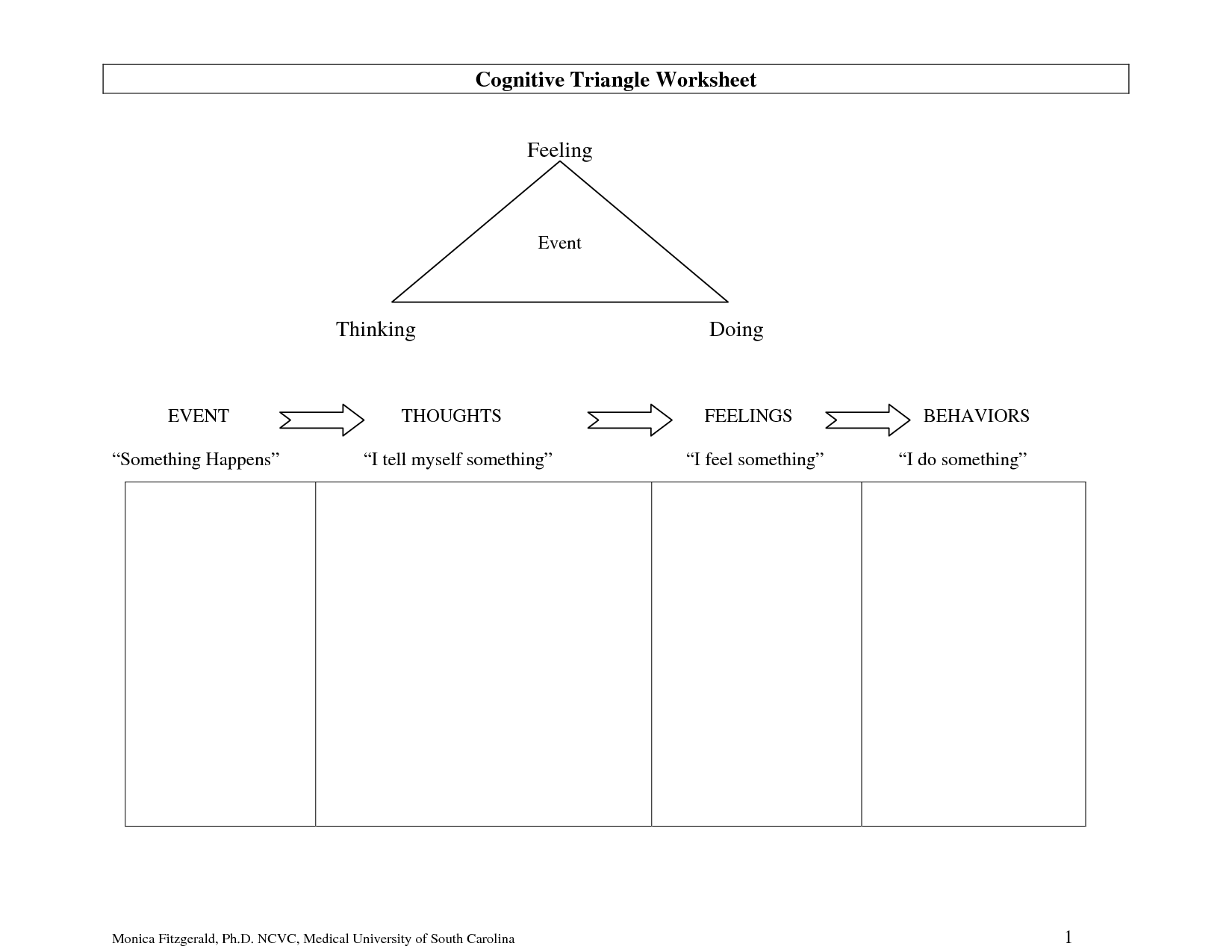 19 Best Images Of Think About It Behavior Worksheet