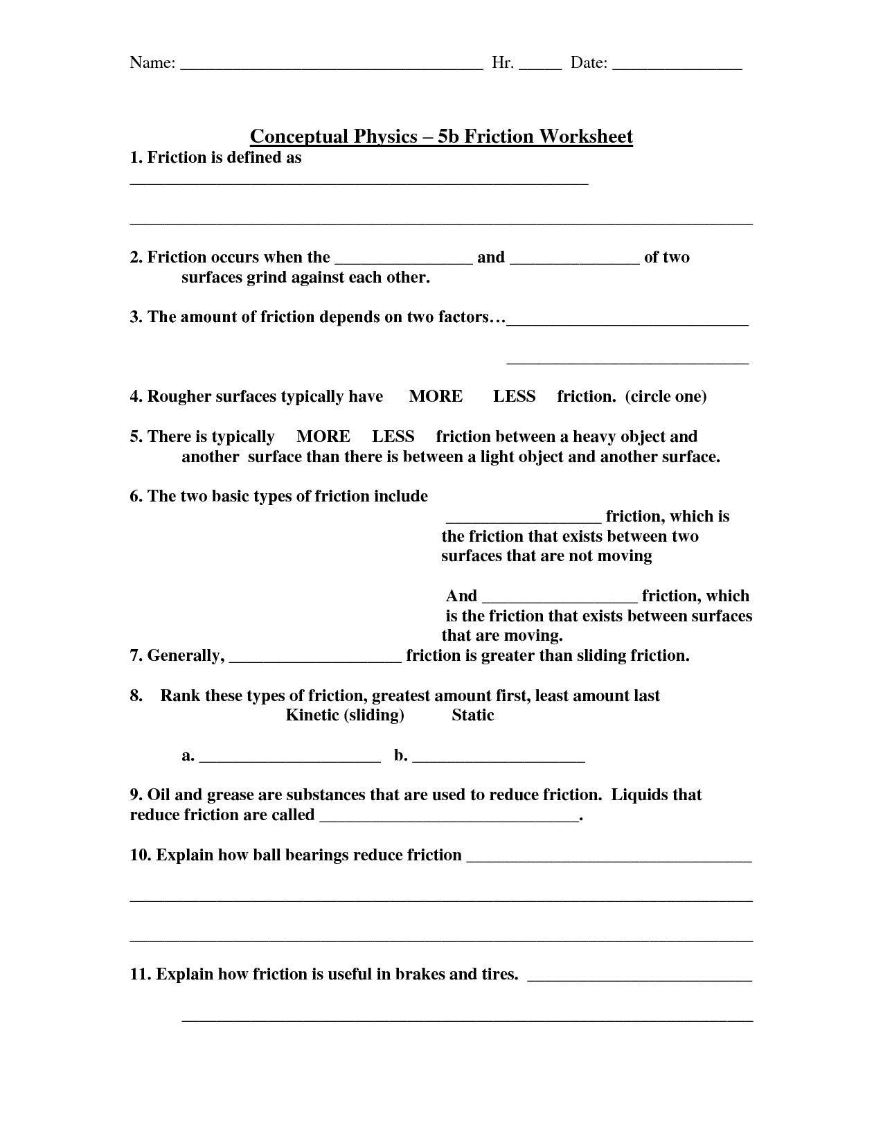 7 Best Images Of Physics Reflection Worksheet