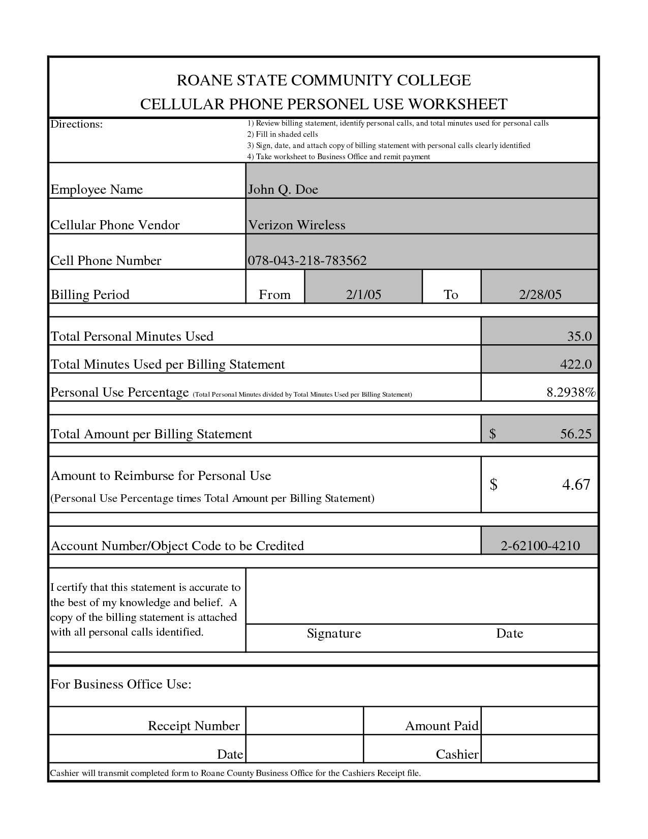 Printable 911 Worksheet