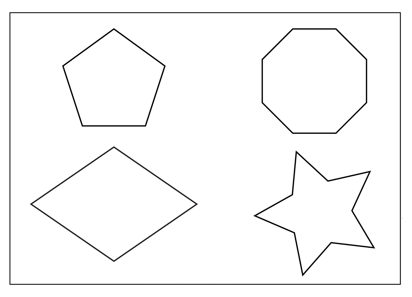 12 Best Images Of Octagon Shape Printable Worksheet