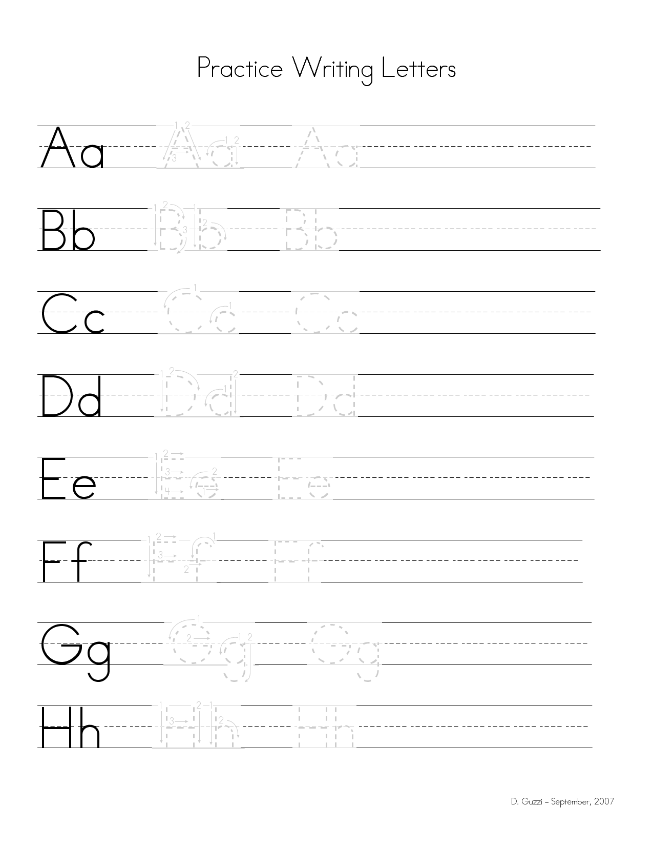 15 Best Images Of Letter L Writing Practice Worksheet