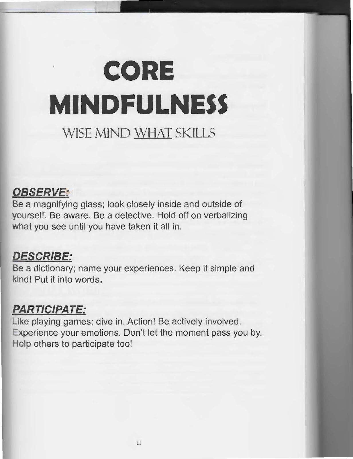 13 Best Images Of Dbt Mindfulness Worksheets