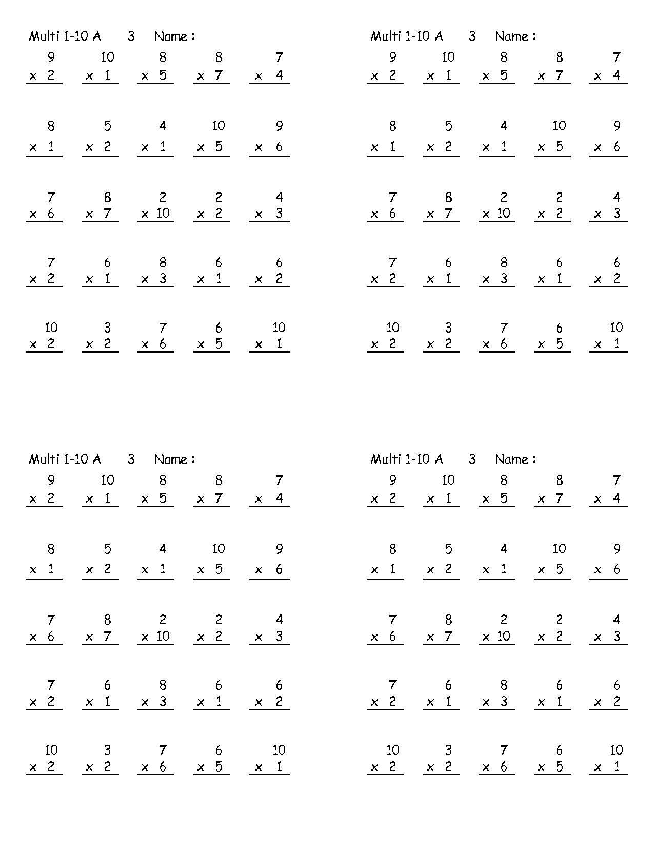 15 Best Images Of 8s Multiplication Worksheets