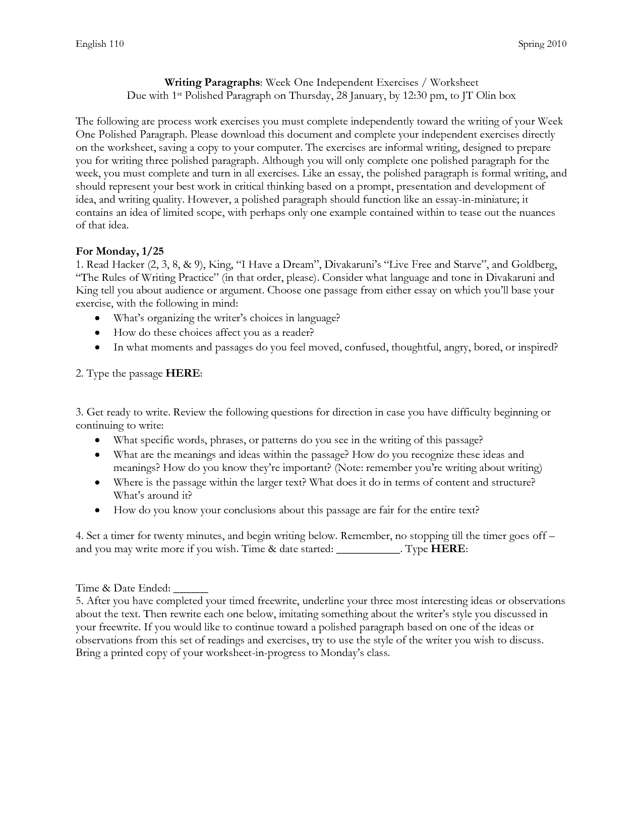12 Best Images Of Paragraph Practice Worksheets