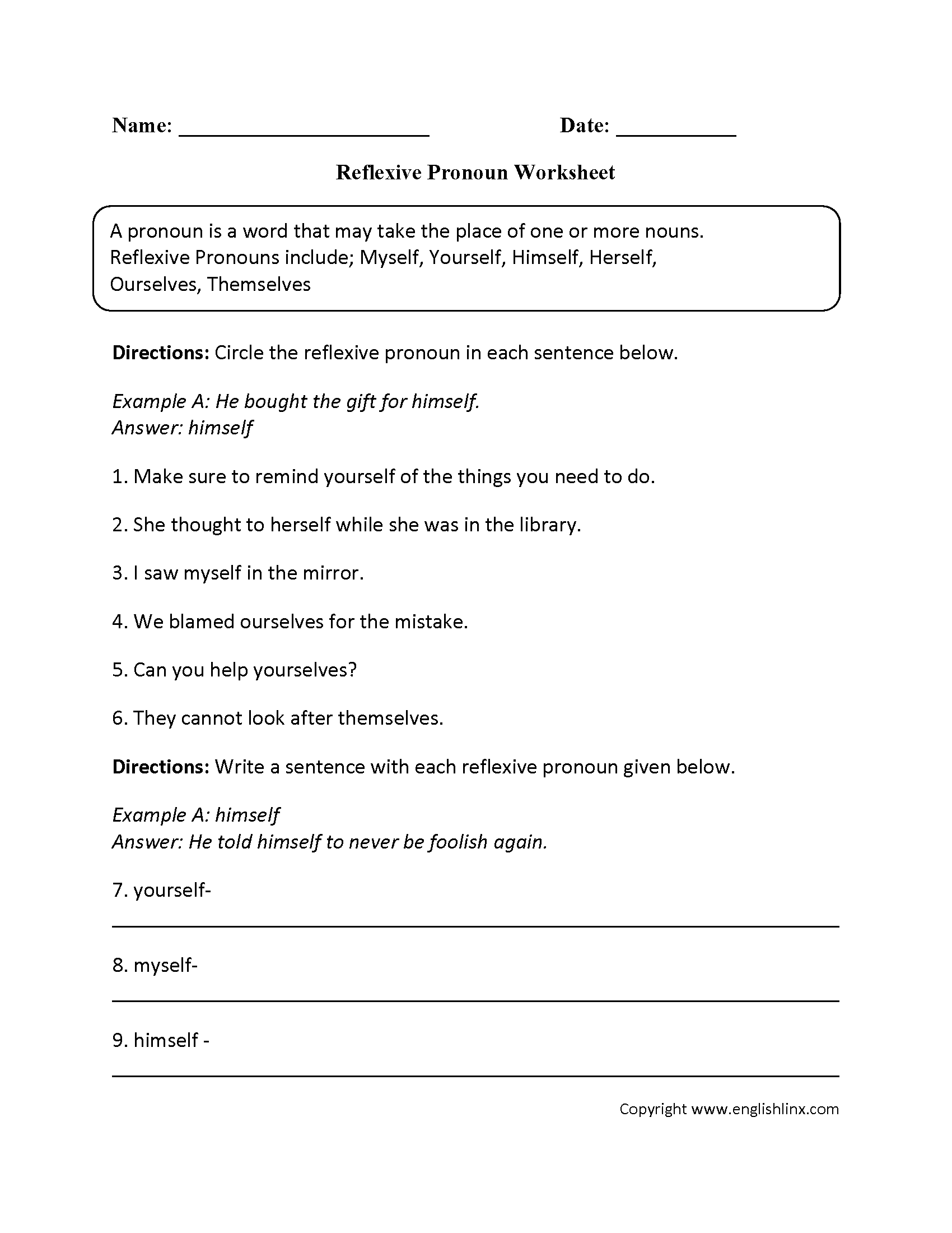 14 Best Images Of Indefinite Pronoun Worksheet