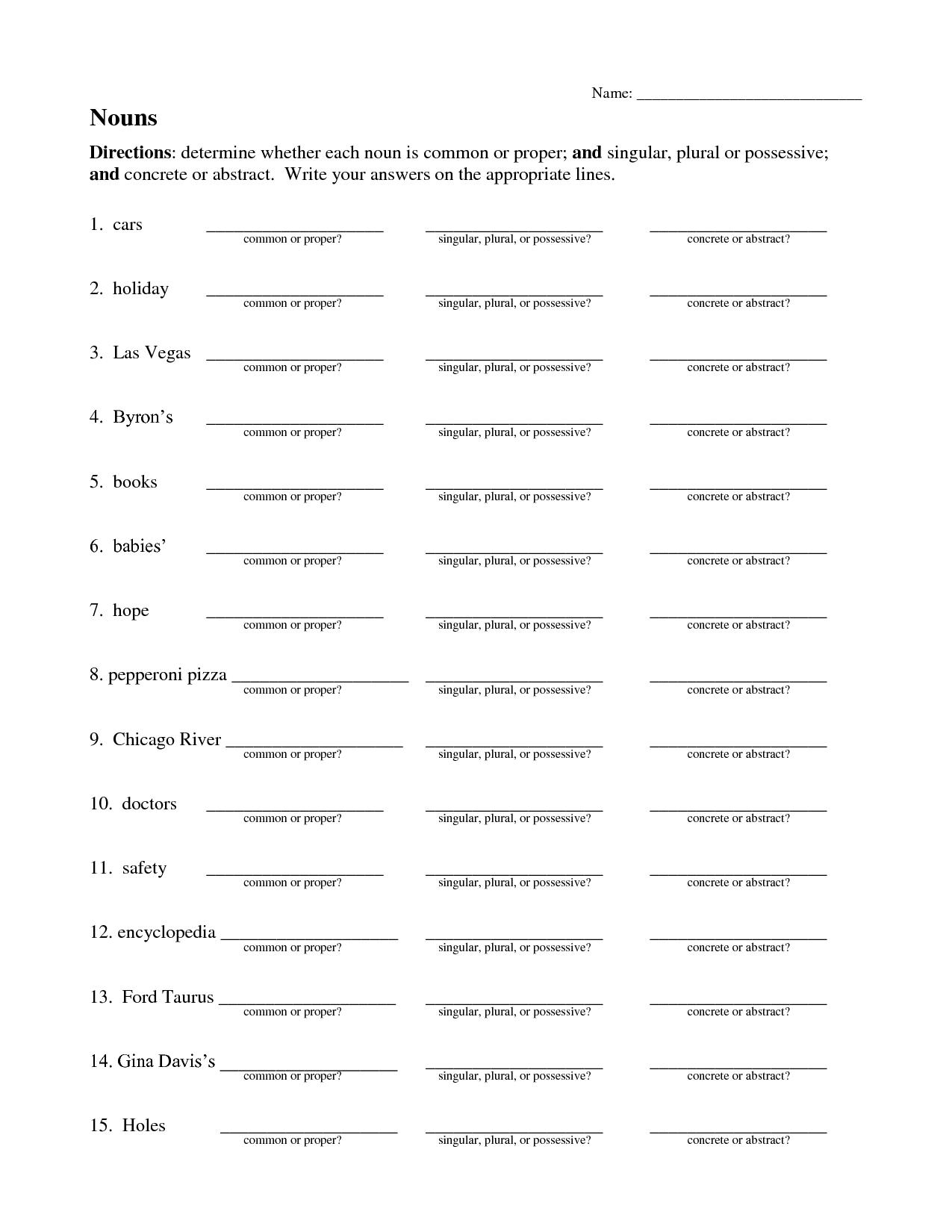 15 Best Images Of Singular Plural Worksheets Grade 1
