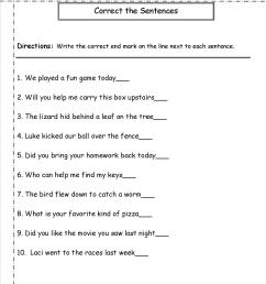 Types Of Sentences Worksheets Grade 2   Printable Worksheets and Activities  for Teachers [ 1650 x 1275 Pixel ]