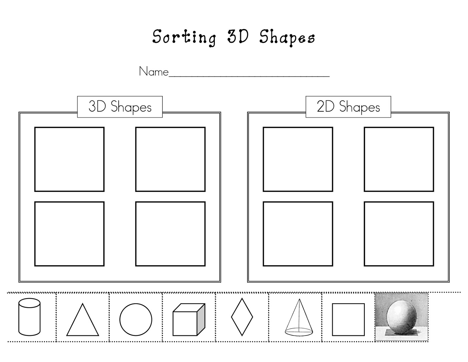 14 Best Images Of Worksheets 3d Shapes