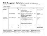 16 Best Images of Risk Assessment Worksheet - Deliberate ...