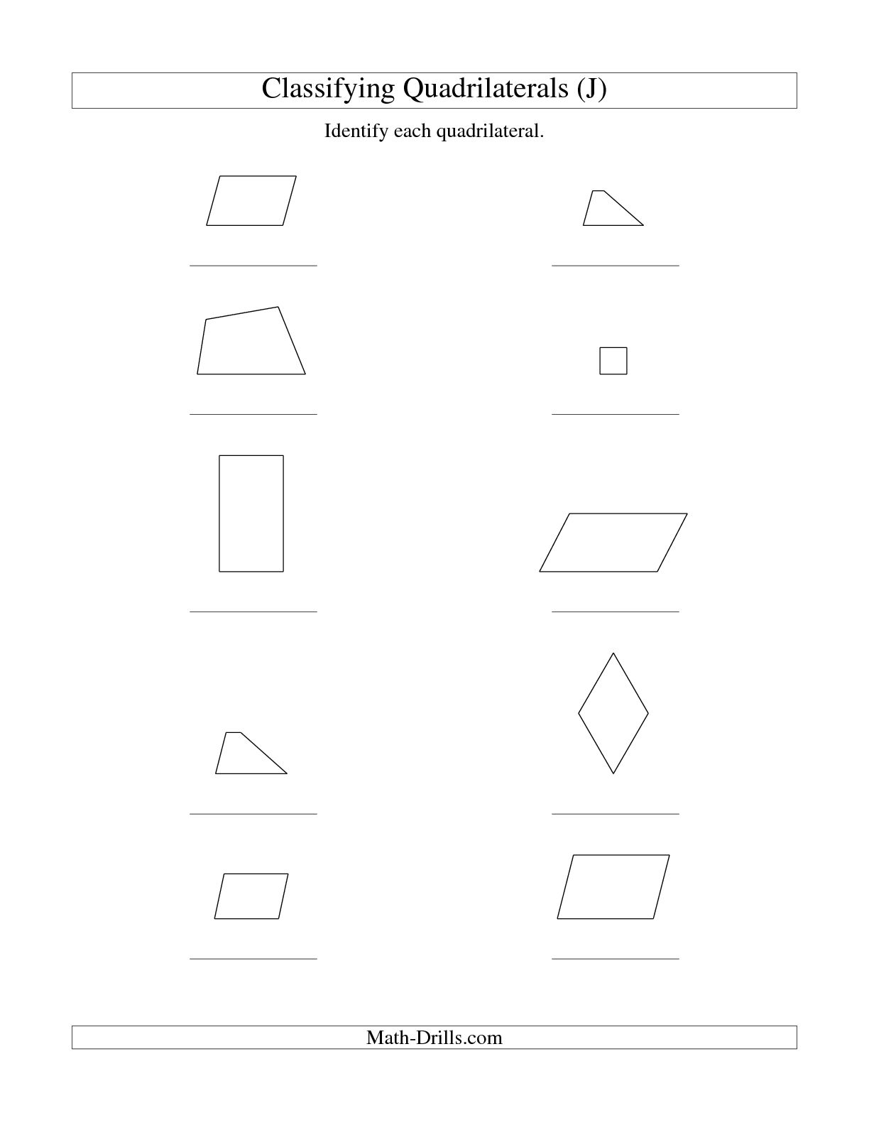 hight resolution of Types Of Quadrilaterals Worksheet   Printable Worksheets and Activities for  Teachers