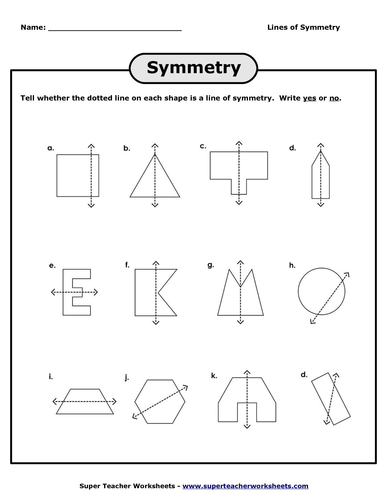 12 Best Images Of Worksheet About Symmetry